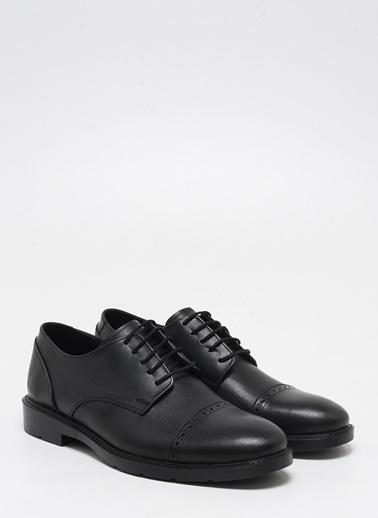 F By Fabrika Fabrika Sentetik Ve Deri Karışımlı Bağcıklı Piero Erkek Ayakkabı Siyah